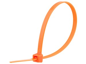 Picture of 8 Inch Orange Standard Cable Tie - 100 Pack