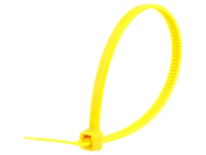 Picture of 8 Inch Yellow Standard Nylon Cable Tie - 100 Pack