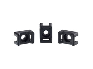 Picture of 3.5 mm Black Saddle Tie Mount - 100 Pack