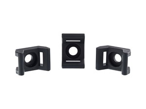 Picture of 5 mm Black Saddle Tie Mount - 100 Pack