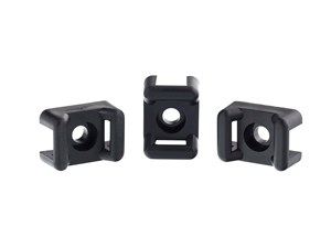 Picture of 6.3 mm Black Saddle Tie Mount - 100 Pack