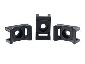 Picture of 6.5 mm Black Saddle Tie Mount - 100 Pack
