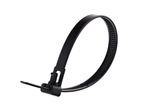 8 Inch Black Standard Releasable Cable Tie