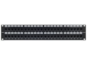 Picture of 48 Port CAT6 Rack Mount Patch Panel - 2U, TAA Compliant, RoHS Compliant