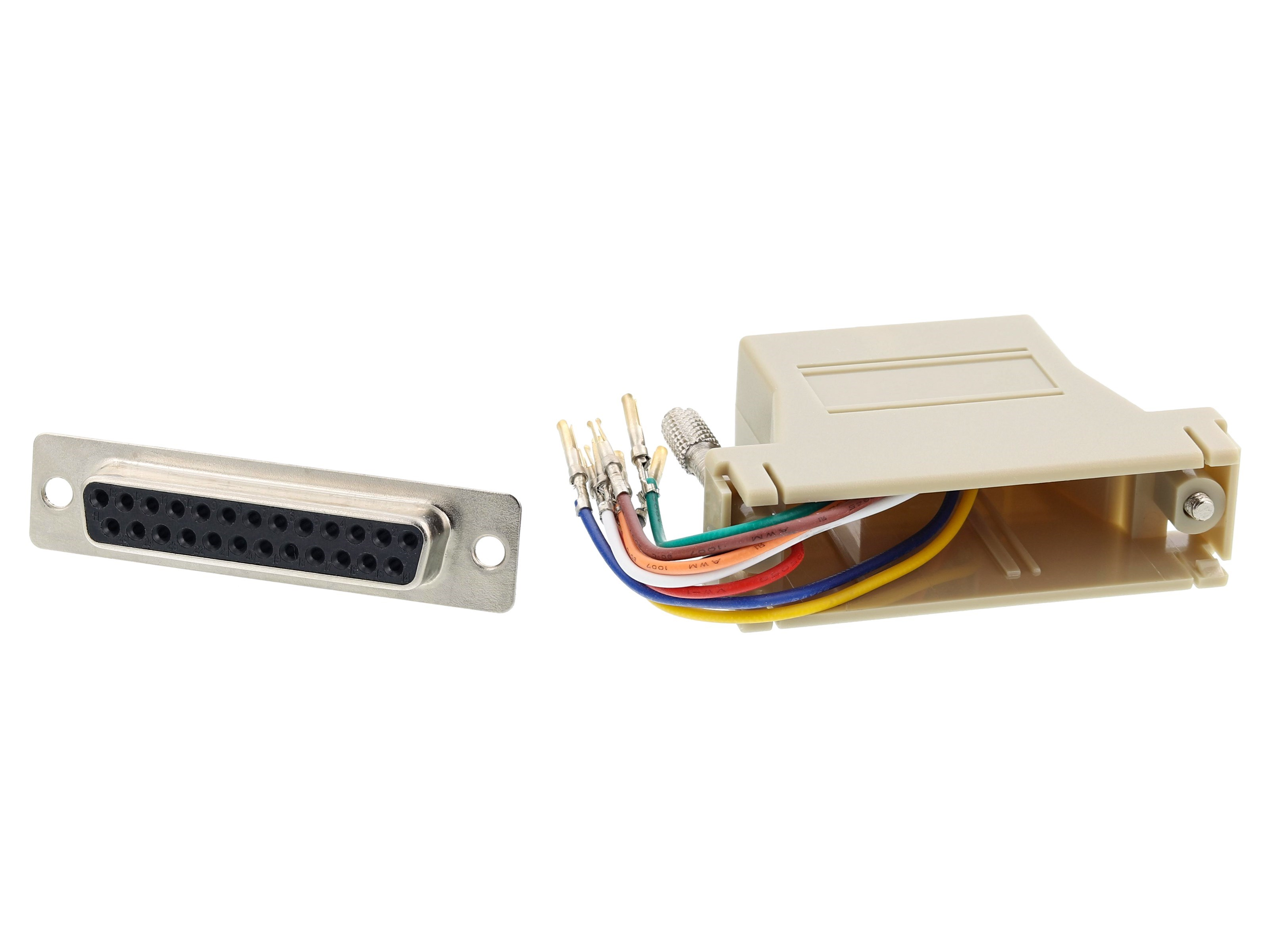 Networking RJ45 8P8C To DB25 Female Adapter