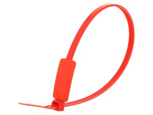 Inside Flag 10 Inch Red Standard ID Cable Tie Loop