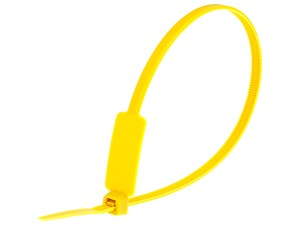 Inside Flag 10 Inch Yellow Standard ID Cable Tie Loop