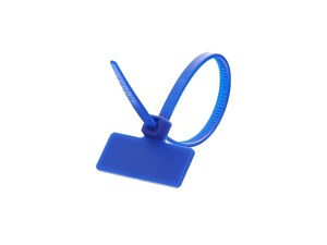 Outside Flag 4 Inch Blue Miniature ID Cable Tie Loop