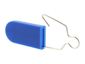 Blue Blank Plastic Padlock Security Seal with Metal Wire