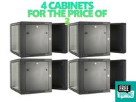 Picture of 4 for the price of 3 - 09U Swing Out Wall Mount Cabinet - 301 Series, 24 Inches Deep, Fully Assembled