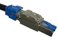 Picture of PoE+ 10Gig RJ45 Shielded Field Plug. 1/Bag