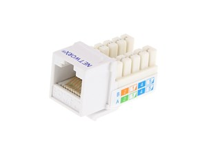 Picture of CAT6A SpeedTerm™ Keystone Jack 90 Degree - White