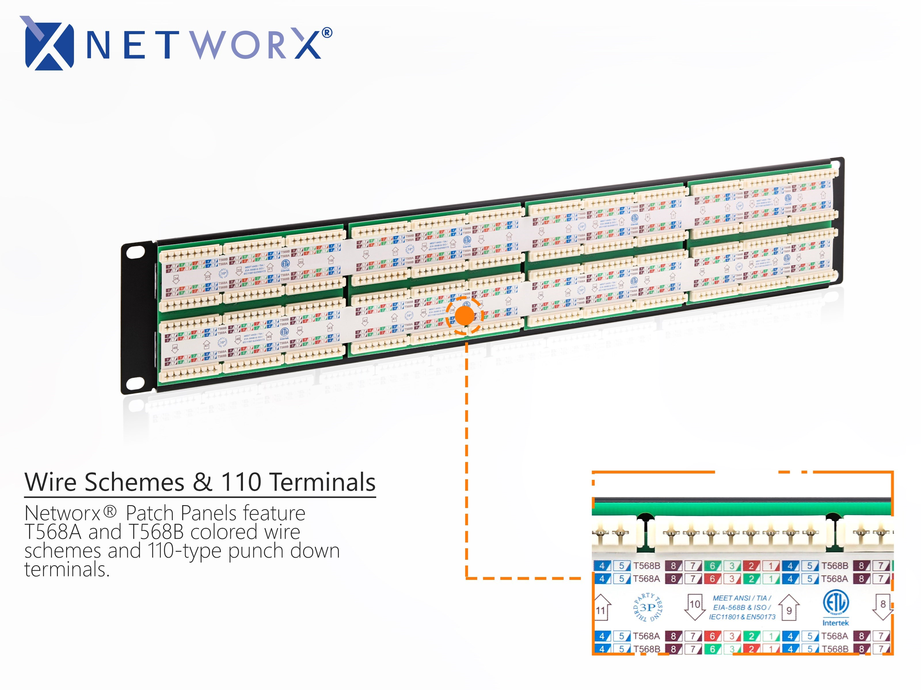 T568B Wiring Diagram Patch Panel from www.computercablestore.com