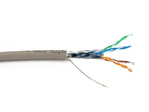 Picture of Mini CAT6A Bulk Cable - Stranded, Beige, Riser (CMR), Shielded (F/UTP) - 1000 FT