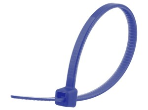 Picture of 4 Inch Blue Miniature Nylon Cable Tie - 100 Pack