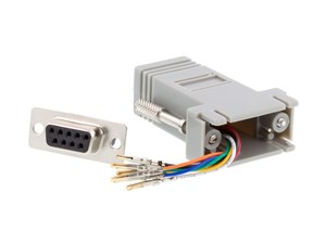 Picture of Modular Adapter Kit - DB9 Female to RJ45 - Gray