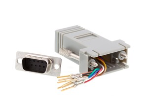 Picture of Modular Adapter Kit - DB9 Male to RJ45 - Gray