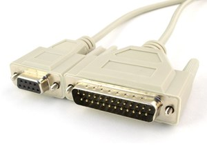 Picture of 15 FT Null Modem Cable - DB9 Female to DB25 Male