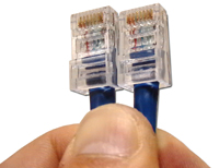 Terminated Cat 5 Cable Ends